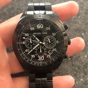MENS Black MK watch